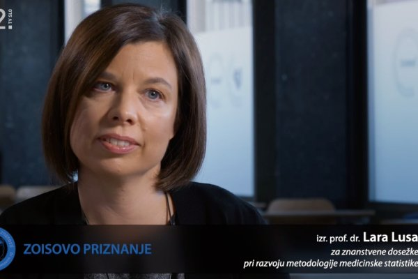 Izr. prof. dr. Lara Lusa prejemnica Zoisovega priznanja za znanstvene dosežke