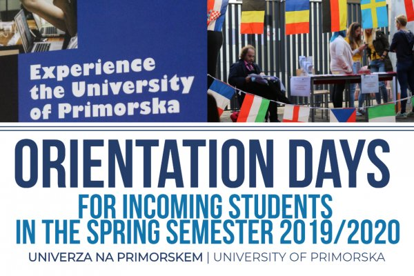 Orientacijski dnevi za tuje študente v spomladanskem semestru | Orientation days for incoming students in the spring semester