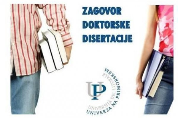 UP FM in UP FHŠ | Zagovora doktorskih disertacij